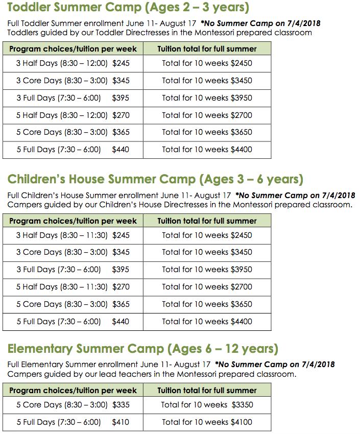 Summer Camp Brickton Montessori School